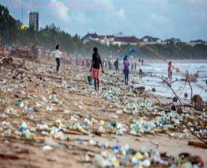 Plastic afval vuilnisbelt